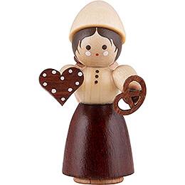 Thiel-Figur Mädchen mit Pfefferkuchen - natur - 4,5 cm