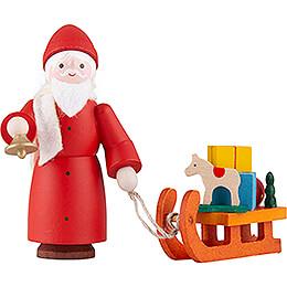 Thiel-Figur Nikolaus mit Schlitten - bunt - 6 cm