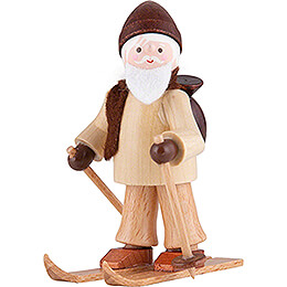 Thiel-Figur Ruprecht auf Ski - natur - 6 cm