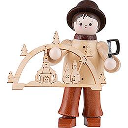 Thiel-Figur Schwibbogenhändler - bunt - 5,5 cm