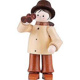 Thiel-Figur Spion mit Fernglas - natur - 5,5 cm