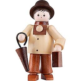 Thiel-Figur Tourist mit Koffer - natur - 6 cm
