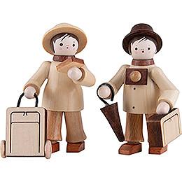 Thiel-Figuren Touristenpaar - natur - 6 cm