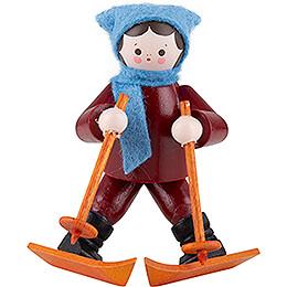 Thiel Figurine - Beginner on Skis - coloured - 5,5 cm / 2.2 inch