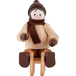 Thiel Figurine - Bobsleigh Rider - natural - 5,5 cm / 2.2 inch