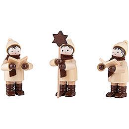 Thiel Figurine - Carolers - natural - Set of Three - 7,5 cm / 3 inch