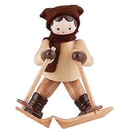 Thiel Figurine - Downhill Skier Lady - natural - 6,5 cm / 2.6 inch