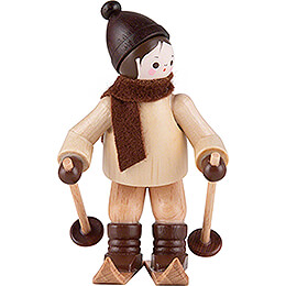 Thiel Figurine - Downhill Skier - natural - 6,5 cm / 2.6 inch