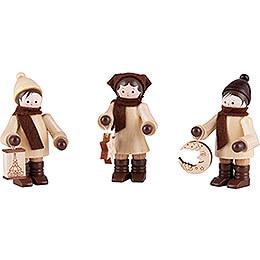 Thiel Figurine - Lampion Children - natural - Set of Three - 7,5 cm / 3 inch
