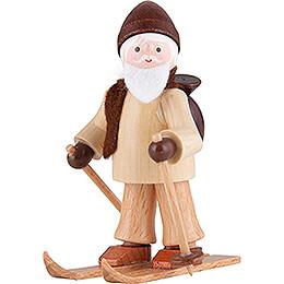 Thiel Figurine - Rupert on Ski - natural - 6 cm / 2.4 inch