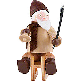 Thiel Figurine - Santa Claus on Sledge - natural - 6 cm / 2.4 inch