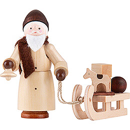 Thiel Figurine - Santa Claus with Sled - natural - 6 cm / 2.4 inch
