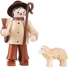 Thiel Figurine - Shepherd with Sheep - natural - 6 cm / 2.4 inch
