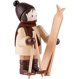 Thiel Figurine - Ski Carrier vertical - natural - 5,5 cm / 2.2 inch