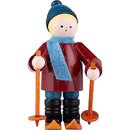 Thiel Figurine - Skier - bordeauxrot - 6,5 cm / 2.6 inch