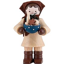 Thiel Figurine - Woman with Bowl - 6 cm / 2.4 inch