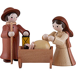 Thiel Figurines - Holy Family - natural - 6 cm / 2.4 inch