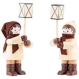 Thiel Figurines - Lantern Children - natural - Set of Two - 7 cm / 2.8 inch