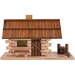 Traditionelles Rauchhaus Waldhütte mit LED - 10 cm