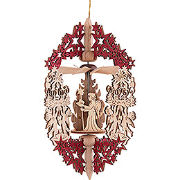 Tree Ornament - Angel Choir - Forest Lodge with Deer - 14,5 cm / 5.7 inch