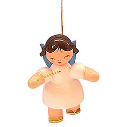 Tree Ornament - Angel Conductor - Blue Wings - Floating - 5,5 cm / 2,1 inch