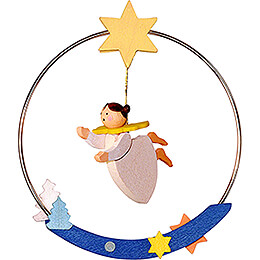 Tree Ornament - Angel in Ring - 8 cm / 3.1 inch