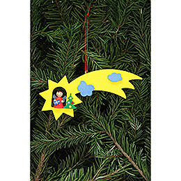 Tree Ornament - Angel in Shooting Star - 12,9x5,2 cm /5.1x2 inch