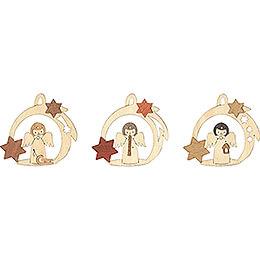 Tree Ornament - Angel in Star - Set of 6 - 7 cm / 2.8 inch