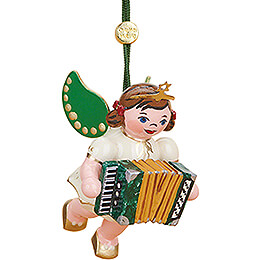 Tree Ornament Angel with Accordion - 6 cm / 2.4 inch
