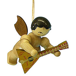 Tree Ornament - Angel with Balalaika - Natural Colors - Floating - 5,5 cm / 2,1 inch