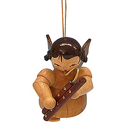 Tree Ornament - Angel with Bassoon - Natural Colors - Floating - 5,5 cm / 2,1 inch