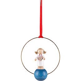 Tree Ornament - Angel with Ginger Bread Herz - 7 cm / 2.8 inch