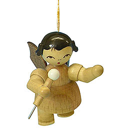 Tree Ornament - Angel with Microphone - Natural Colors - Floating - 5,5 cm / 2,1 inch