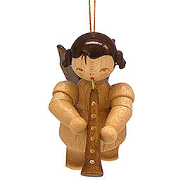 Tree Ornament - Angel with Oboe - Natural Colors - Floating - 5,5 cm / 2,1 inch