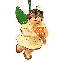 Tree Ornament - Angel with Pan Flute - 6 cm / 2,5 inch