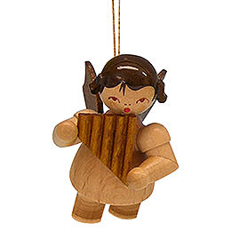 Tree Ornament - Angel with Pan Pipe - Natural Colors - Floating - 5,5 cm / 2,1 inch