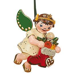 Tree Ornament - Angel with Red Boot - 6 cm / 2,5 inch