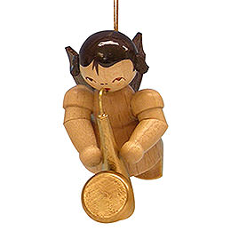 Tree Ornament - Angel with Saxophone - Natural Colors - Floating - 5,5 cm / 2,1 inch