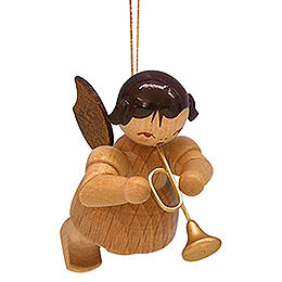 Tree Ornament - Angel with Trumpet - Natural Colors - Floating - 5,5 cm / 2,1 inch