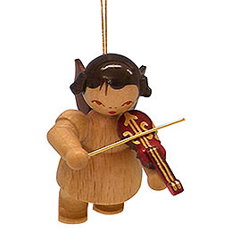 Tree Ornament - Angel with Violin - Natural Colors - Floating - 5,5 cm / 2,1 inch