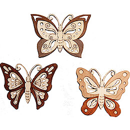 Tree Ornament - Butterfly - Set of 6 - 5 cm / 2 inch