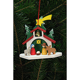 Tree Ornament - Chapel with the Holy Family - 9,2x8,8 cm / 4x3 inch