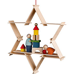 Tree Ornament - Children with Toys - 9,5 cm / 3.7 inch