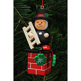 Tree Ornament - Chimney Sweep on Chimney - 3,0x7,8 cm / 1x3 inch