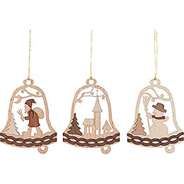 Tree Ornament - Christmas Bells - Set of 6 - 7 cm / 2.8 inch