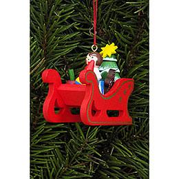 Tree Ornament - Christmas Sleigh - 5,8x5,3 cm / 2.3x2.1 inch