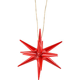 Tree Ornament - Christmas Star Red - 7 cm / 2.8 inch