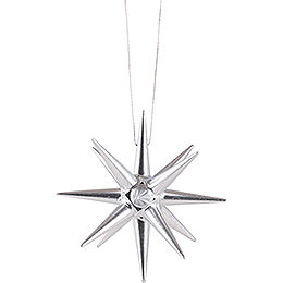 Tree Ornament - Christmas Star Silver - 7 cm / 2.8 inch