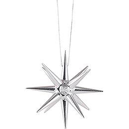 Tree Ornament - Christmas Star Silver - 7 cm / 2.8 inch