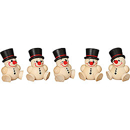 Tree Ornament - Cool Man - 5 pcs. - 4 cm / 2 inch